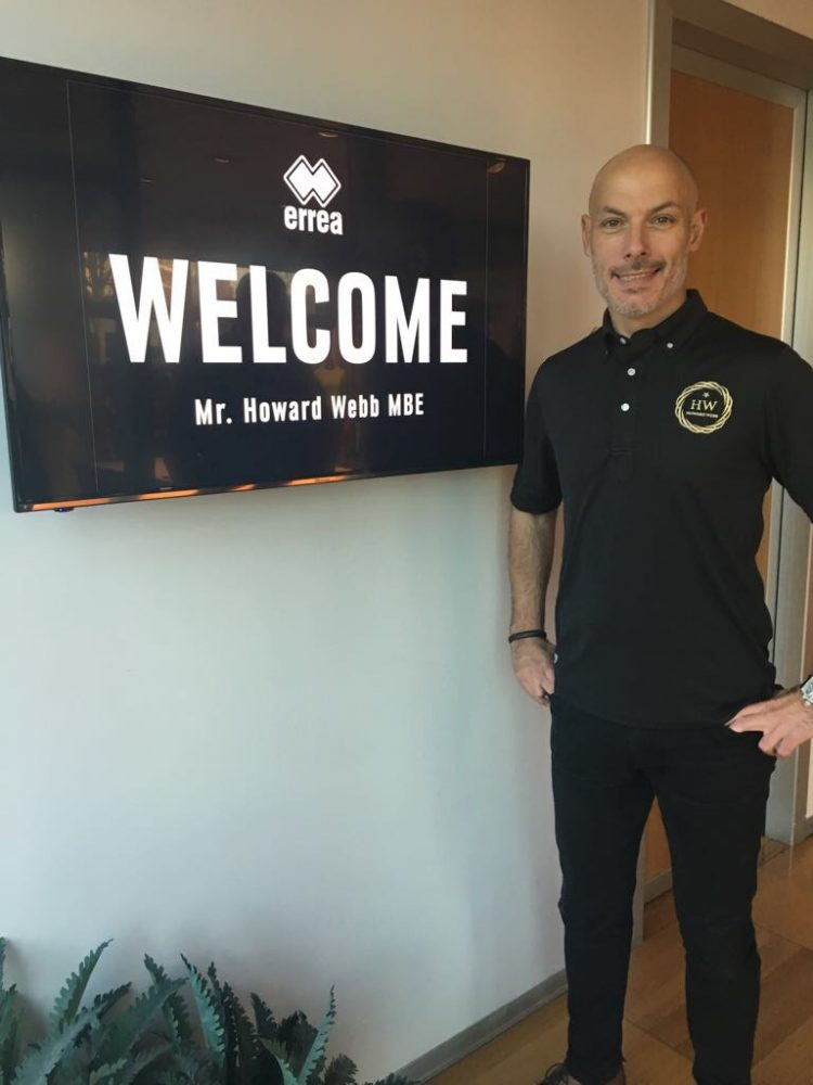 World Cup Referee Howard Webb signs for the Factory